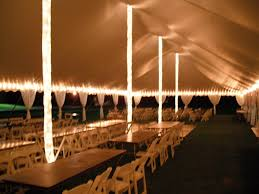 Center Pole String Lights with Fabric