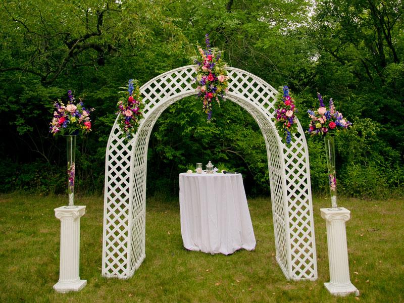 White Lattice Arch