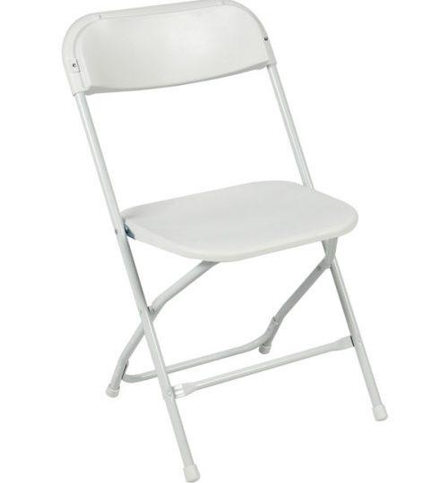 White on White Samsonite Chair